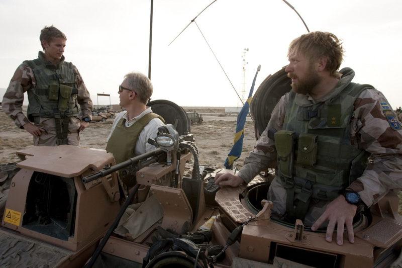 Hölster i sk. Tanker style på Kroppsskydd 94 i Afghanistan 2009 Foto: Sergeant Alexander Karlsson/Försvarsmakten/Combat Camera.