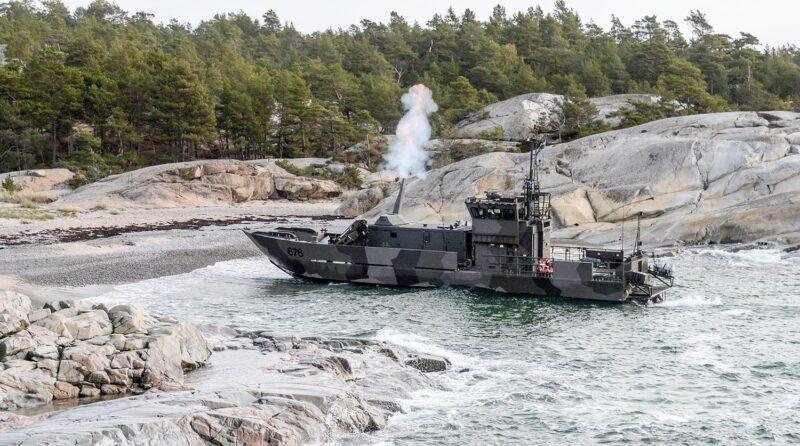 LÄtt trossbåt försök NEMO Foto: Försvarsmakten