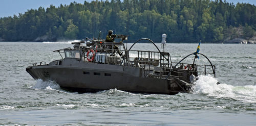 Stridsbåt 90HS med Ksp88 Foto:©2017 Henrik Svensk