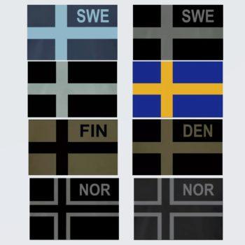 Tactical Nordic Flags Sweden, Norway, Finland, Denmark -SoldF.com